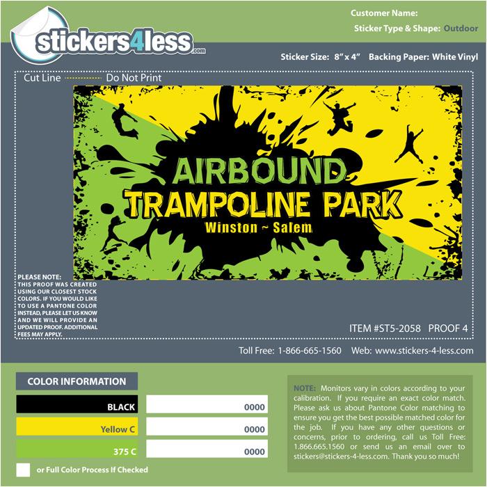 Airtbound Trampoline Stickers