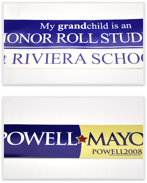 Outdoor Bumper Sticker samples